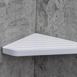 Dia Corner Shelf White