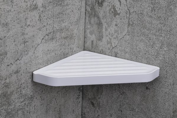 Dia Corner Shelf White