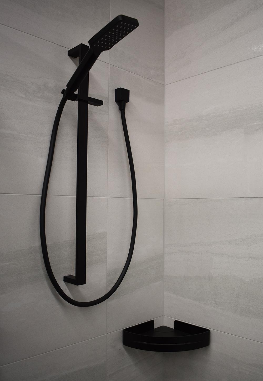 Calypso Corner Shower Shelf Black Showerwell Home Products